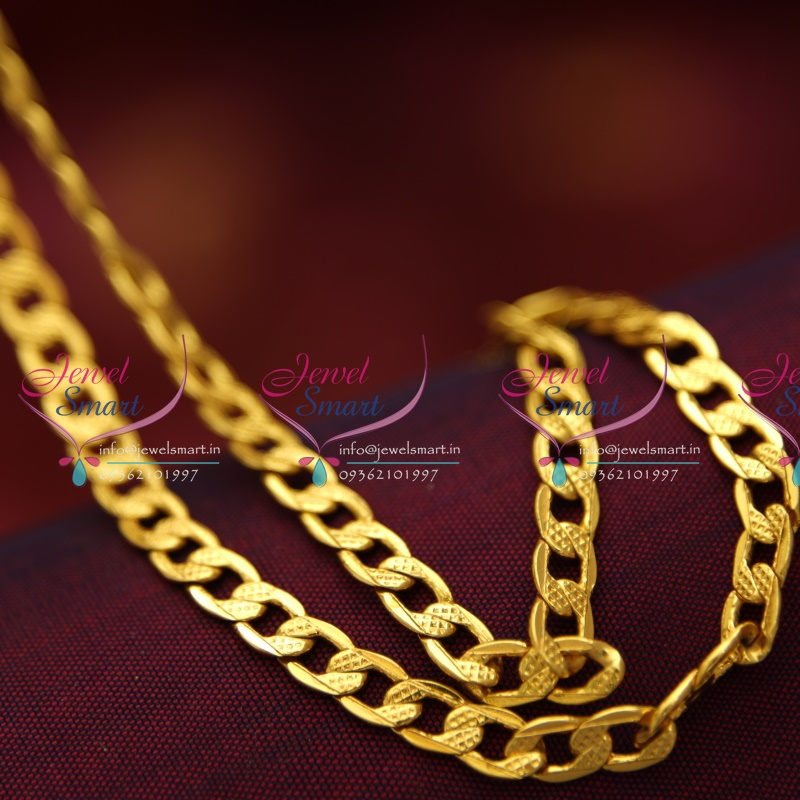 C0871 18 Inches Gold Plated Fancy Mens Design Short Chain Daily ...