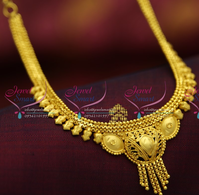 NL4449 Low Price Necklace Set South Indian Traditional Kids Jewellery