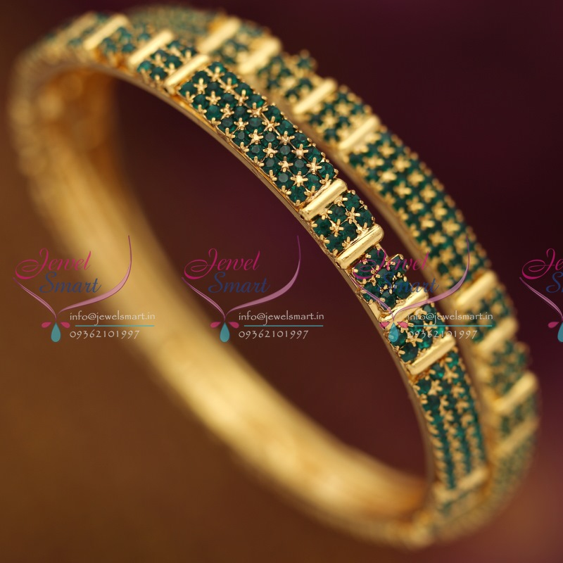 design size stones stone img semi traditional plated emerald gold jewellery precious green bangles