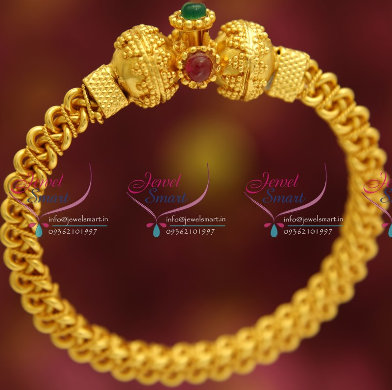Temple Jewellery Antique Finishing Gold Plated 1 Gram