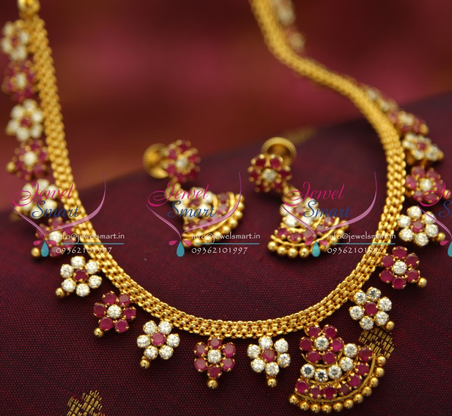 Nl4957 Ad White Ruby Necklace Traditional Indian Jaipur
