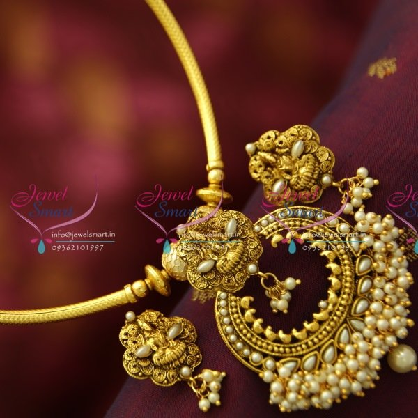 NL4996 Fancy Temple Curved Pipe Fashion Jewellery Set Gold Design