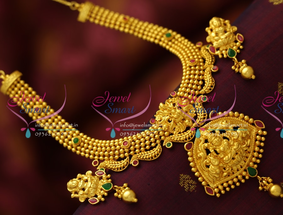 Real gold necklace design images real gold necklace design images nl5458 gold beads design one gram temple laxmi god pendant real aloadofball Image collections