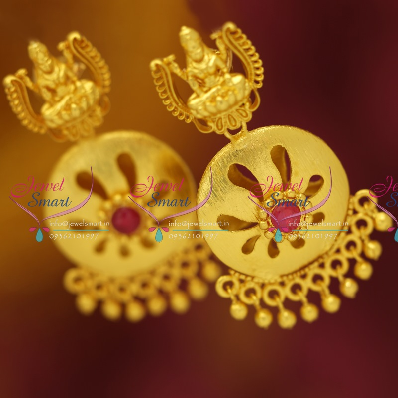 ER5517 Gold Plated Temple Jewellery Earrings Traditional Gold ...