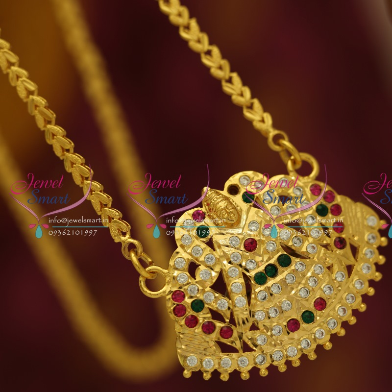 pc5568 gajalakshmi ad pendant gold plated traditional