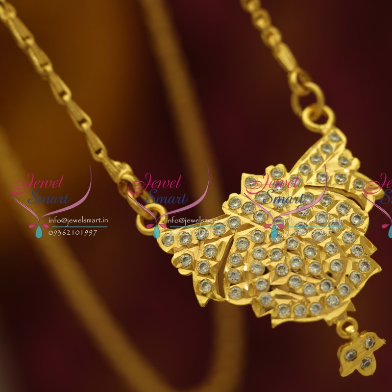 PC5571 AD Pendant Gold Plated Chain Traditional South Indian Jewellery Buy  Online 5e7b17707