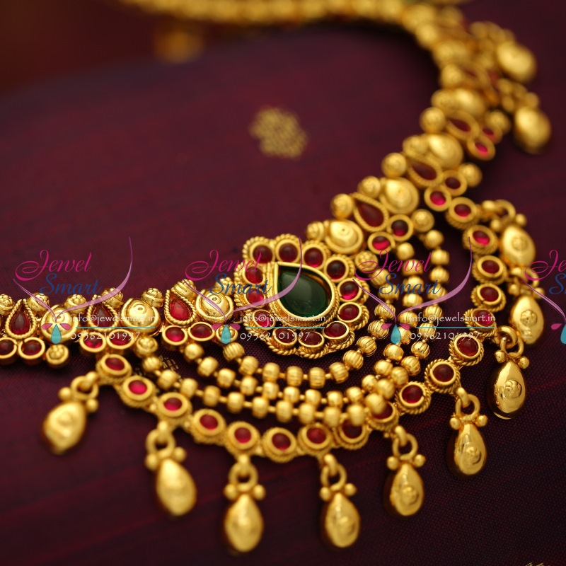 Latest Indian Bridal Jewellery Designs 2018 With Price: H5687 Latest Design Hip Chain Red Gold Antique Plated