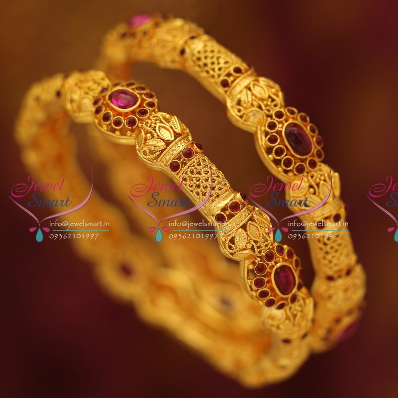 B5766m 2 6 Size Kemp Traditional Gold Design Fancy Bangles