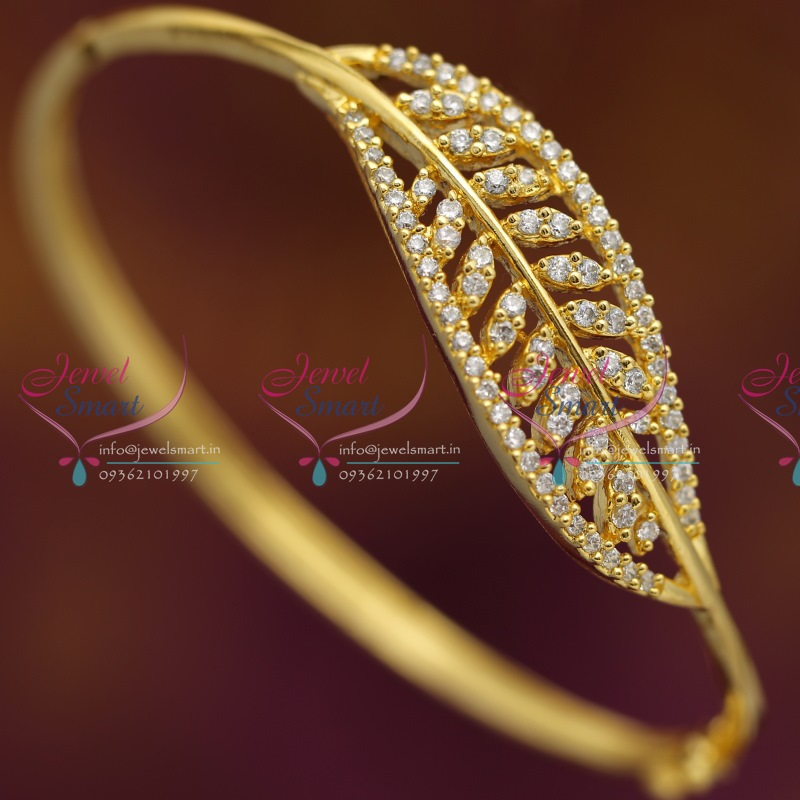 b6538 cz leaf fancy gold design imitation jewellery