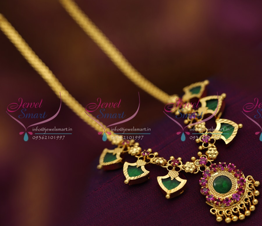 NL6580 Kerala Palakka Mala Design Necklace South Indian ...