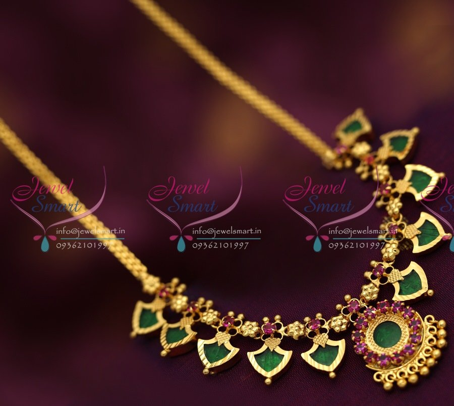 NL6585 Kerala Palakka Mala Design Necklace South Indian ...