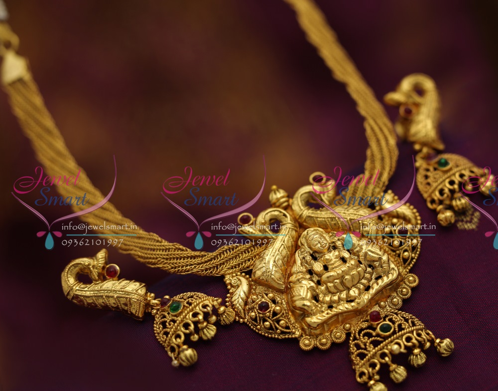 Nl6591 Antique Nagas Temple Ethnic Jewellery Handmade Gold