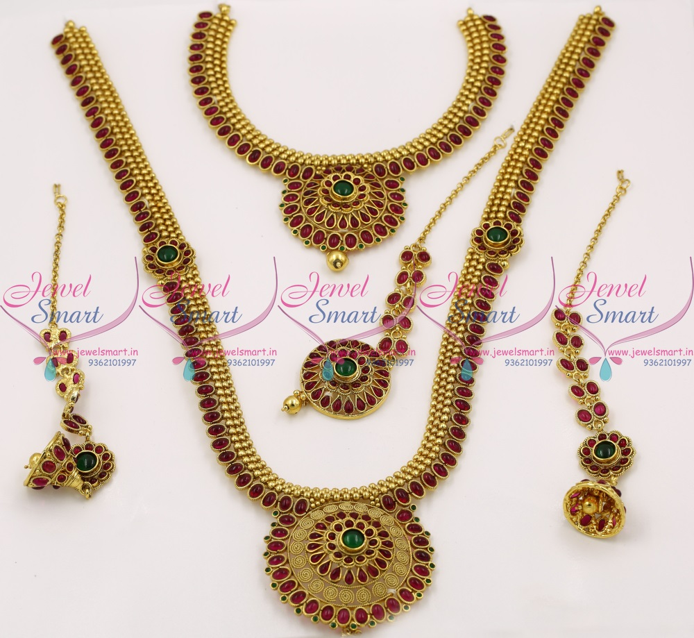 BR6821 Bridal Indian Traditional Complete Wedding Dulhan Jewellery Set Online