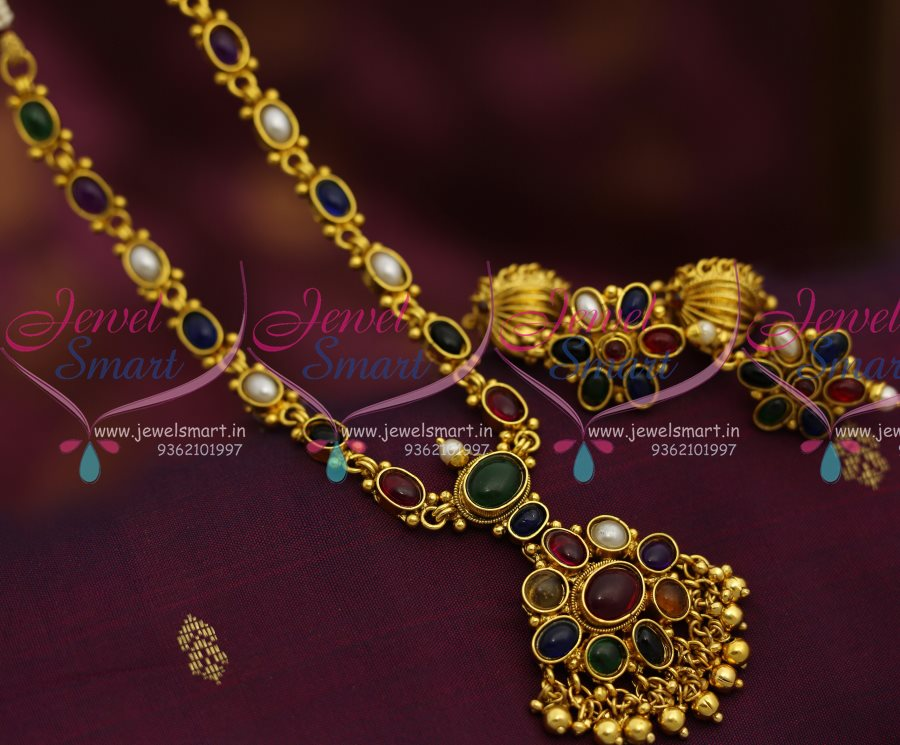 Gorgeous Navaratna Gold Necklace | Indian jewelry, Gold necklaces ...