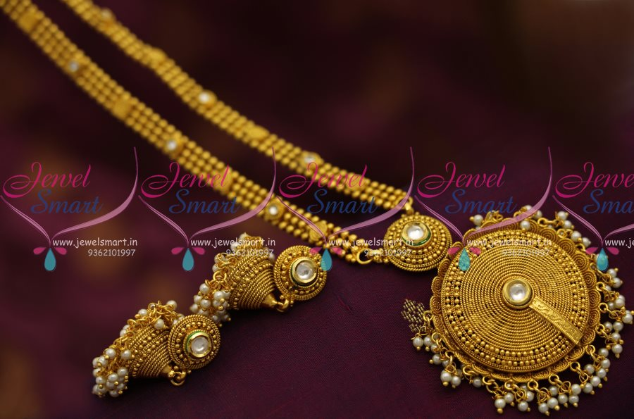 NL6996 Latest Haram Long Necklace South Indian Jewellery