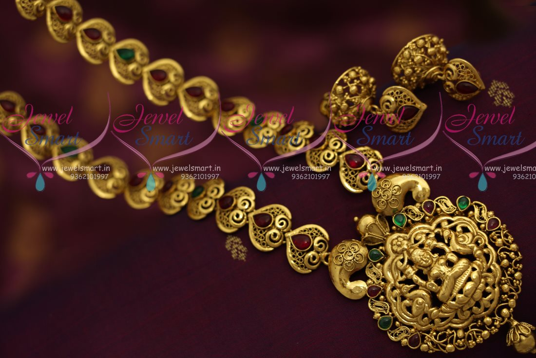 Nl7188 Nagas Antique Gold Plated Jewellery Haram