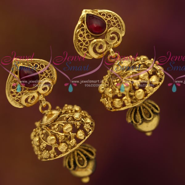 NL7188 Nagas Antique Gold Plated Jewellery Haram Traditional South