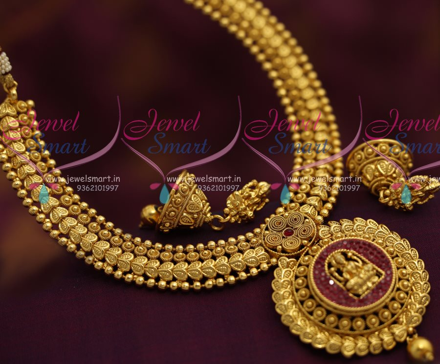 NL7210 Temple Jewellery Gold Plated Finish Latest Traditional ...