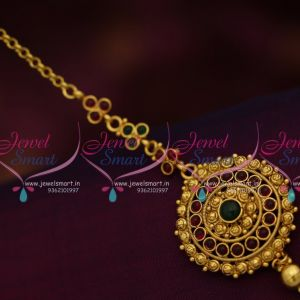 antique-gold-plated-kemp-nethichutti-maang-tikka-low-price-design-collections