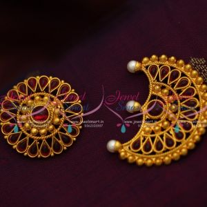 D8447 Sun Moon Sooriyan Chandran Traditional Dance Jewellery Hair Decoration