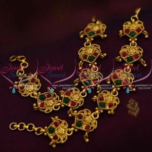floral-design-handmade-red-green-fancy-earchains-south-indian-ear-mattal-gold-plated