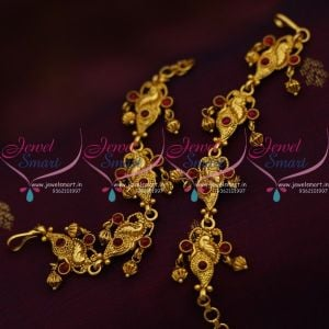 peacock-design-handmade-kemp-fancy-earchains-south-indian-ear-mattal-gold-plated