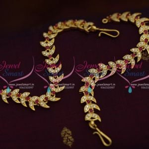 ruby-white-stones-ear-kanchain-mattal-earchains-buy-online-new-designs-traditional-jewellery