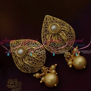 pearl-stone-gold-antique-finish-imitation-earrings-latest-fashion-low-price-jewellery