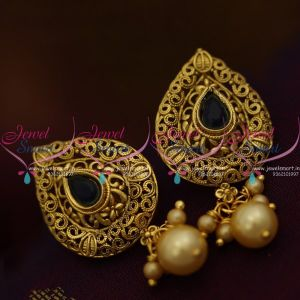 blue-colour-stone-pearl-drops-light-weight-antique-tops-earrings-low-price