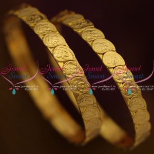 mango-shape-lakshmi-god-coin-bangles-kasu-2-pieces-set-gold-plated-online