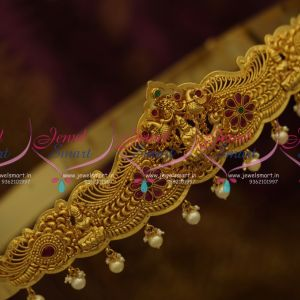 H9738 Temple Wedding Jewellery Oddiyanam Traditional Vaddanam South Indian Collections