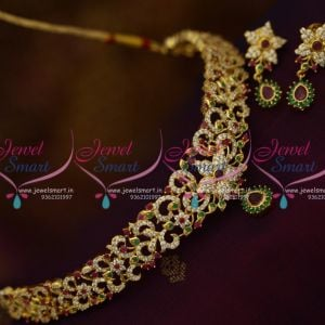 NL9967 Semi Precious Multi Colour Stones Fashion Jewellery Choker Necklace Online