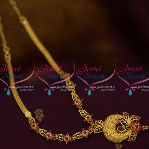 NL10004 Ruby Semi Precious Low Price South Indian Casting Jewellery Gold Plated Online