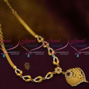 NL10007 Casting Model Leaf Gold Plated American Diamond South Jewellery Handmade Collections
