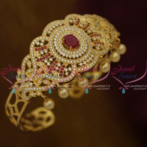 Belt Vanki Bajuband Arm Jewellery Close Setting White Colour AD Stones Latest South Indian Collections