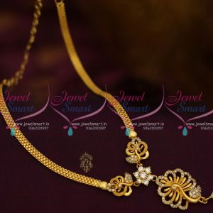 White AD Stones Peacock Simple Design Low Price Casual Wear Necklace Designs Buy Online