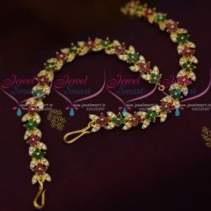 red-green-white-latest-semi-precious-stones-ear-chains-mattal-fancy-jewellery-collections