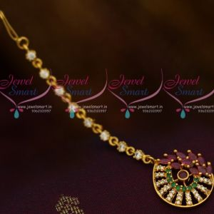 Small Size Marquise AD Multi Colour Fancy Design AD Jewellery Accessory NethiChutti Traditional Collections Online