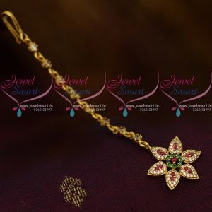 Small Size AD Multi Colour Star Design AD Jewellery NethiChutti Traditional Collections Online