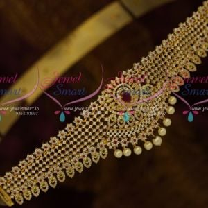 Ruby White Gold Plated Diamond Finish Vaddanam Oddiyanam Collections Shop Online