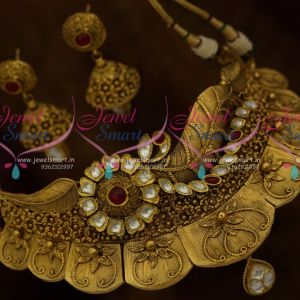 Antique One Gram Gold Original Foil Jadau Kundan Stones Latest Stylish Rich Look Fashion Jewellery Designs Shop Online