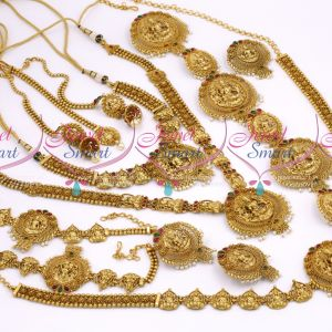 Antique Grand Bridal Matte Temple Nagas Gold Wedding Dulhan Jewellery Full Set Latest Collections