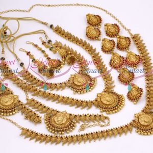 Grand Bridal Matte Gold Wedding Dulhan Jewellery Full Set Latest Collections