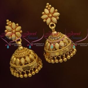 Light Weight Good Looking South Indian Screw Back Jhumki Earrings Latest Jewellery