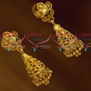 Traditional Gold Design Screw Back Jimikki Thodu Small Size Low Price Buy Online
