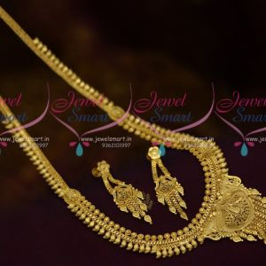 Haram South Indian Jewellery Light Gold Thin Simple Matte Plated Medium Online