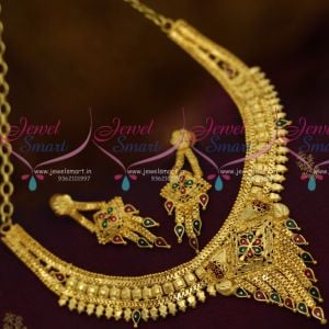 Imitation Jewellery Meenakari South Indian Traditional Finish Short Necklace Online