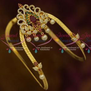 Traditional South Indian Arm Jewellery Vanki Bajuband AD Stones Ruby Emerald White Online