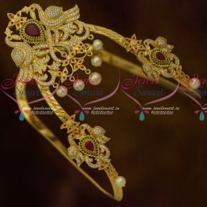 Peacock Design Bridal Fancy AD Vanki Baju Band Wedding Jewellery Collections Online