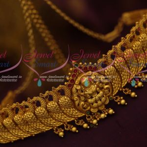 Kids Temple Jewellery Chain Vaddanam Small Size Matte Gold Latest Traditional Ornaments Online